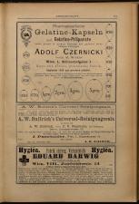 Anzeigenband zu 'Zeitschrift des allgemeinen österreichischen Apotheker-Vereines' 18930420 Seite: 11