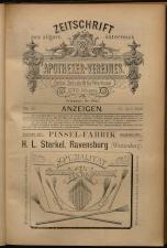 Anzeigenband zu 'Zeitschrift des allgemeinen österreichischen Apotheker-Vereines' 18930420 Seite: 1