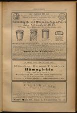 Anzeigenband zu 'Zeitschrift des allgemeinen österreichischen Apotheker-Vereines' 18930420 Seite: 7