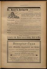 Anzeigenband zu 'Zeitschrift des allgemeinen österreichischen Apotheker-Vereines' 18930420 Seite: 9