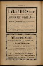 Anzeigenband zu 'Zeitschrift des allgemeinen österreichischen Apotheker-Vereines' 18930620 Seite: 10