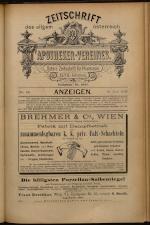 Anzeigenband zu 'Zeitschrift des allgemeinen österreichischen Apotheker-Vereines' 18930620 Seite: 1