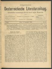 Allgemeine oesterreichische Literaturzeitung