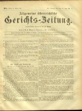 Allgemeine Österreichische Gerichtszeitung 18740130 Seite: 1