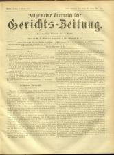 Allgemeine Österreichische Gerichtszeitung 18740206 Seite: 1
