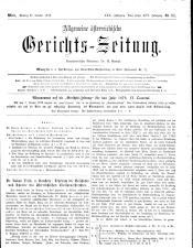 Allgemeine Österreichische Gerichtszeitung 18791021 Seite: 1