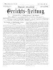 Allgemeine Österreichische Gerichtszeitung 18930520 Seite: 1