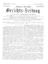Allgemeine Österreichische Gerichtszeitung 18930701 Seite: 1