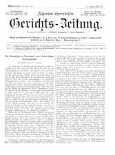 Allgemeine Österreichische Gerichtszeitung
