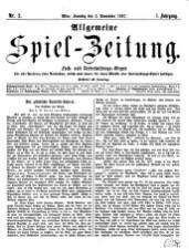 Allgemeine Spiel-Zeitung 18671103 Seite: 1