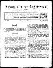 Auszug aus der Tagespresse