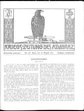Kriegszeitung des A.T.V. Graz