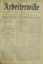 Arbeiterwille 18930105 Seite: 1