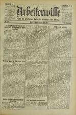 Arbeiterwille 19250715 Seite: 1