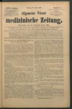 Allgemeine Wiener medizinische Zeitung 18930124 Seite: 1