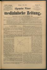 Allgemeine Wiener medizinische Zeitung 18930307 Seite: 1