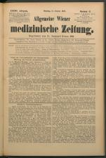 Allgemeine Wiener medizinische Zeitung 18931010 Seite: 1