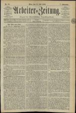 Arbeiter Zeitung 18930714 Seite: 1