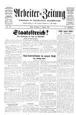 Arbeiter Zeitung 19320802 Seite: 1