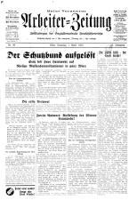 Arbeiter Zeitung 19330401 Seite: 1
