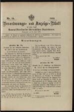 Verordnungs- und Anzeige-Blatt der k.k. General-Direction der österr. Staatsbahnen 18930624 Seite: 1