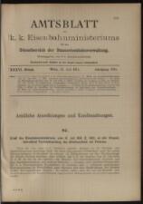 Verordnungs- und Anzeige-Blatt der k.k. General-Direction der österr. Staatsbahnen
