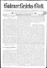 Badener Bezirks-Blatt