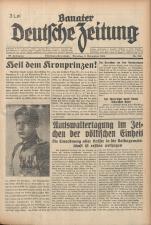 Banater Deutsche Zeitung 19381108 Seite: 1