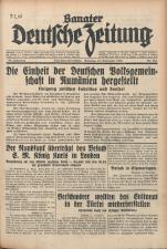 Banater Deutsche Zeitung 19381112 Seite: 1