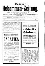Brünner Hebammen-Zeitung