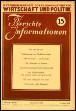 Berichte und Informationen des österreichischen Forschungsinstituts für Wirtschaft und Politik 19460809 Seite: 1
