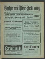 Deutschösterreichische Bahnmeister-Zeitung