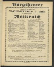 Theaterzettel Burgtheater
