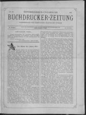 Buchdrucker-Zeitung 18921229 Seite: 1