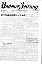 Badener Zeitung 19381119 Seite: 1