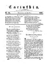 Carinthia. Zeitschrift für Vaterlandskunde, Belehrung und Unterhaltung