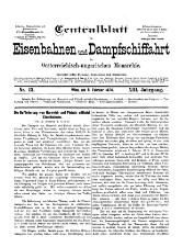 Centralblatt für Eisenbahnen und Dampfschifffahrt in Oesterreich