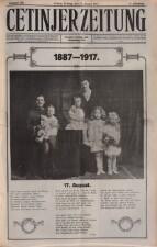 Cetinjer Zeitung 19170817 Seite: 1