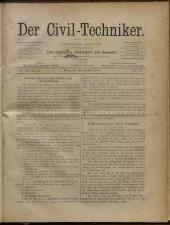 Der Civiltechniker 18800915 Seite: 1