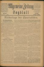Czernowitzer Tagblatt 19190117 Seite: 1