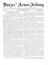 Danzers Armee-Zeitung 19070214 Seite: 1