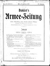 Danzers Armee-Zeitung 19140219 Seite: 1