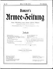 Danzers Armee-Zeitung 19140521 Seite: 1