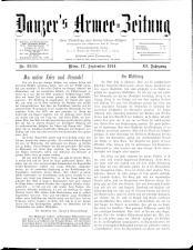 Danzers Armee-Zeitung 19140917 Seite: 1