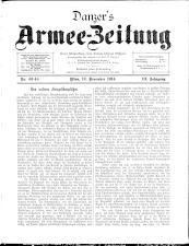 Danzers Armee-Zeitung 19141112 Seite: 1