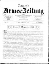 Danzers Armee-Zeitung 19141203 Seite: 1