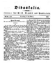 Didaskalia oder Blätter für Geist, Gemüth und Publizität