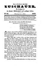 Der Österreichische Zuschauer. Zeitschrift für Kunst, Wissenschaft und geistiges Leben