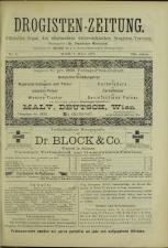 Drogisten Zeitung 18930308 Seite: 1