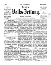 Deutsche Volks-Zeitung <Prag> : Politische Wochenschrift